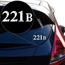 Amazon Com Yoonek Graphics Sherlock Holmes 221b Baker Street Decal Sticker For Car Window Laptop And More 513 2 X 5 6 White Automotive