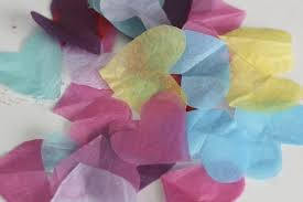 tissue paper and contact paper window