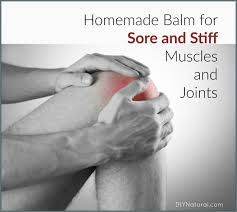 a homemade balm for sore muscles sore