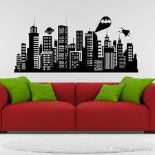 Large Size 132x41 Cm Batman Gotham City Wall Decal Comics Vinyl Sticker Kids Room Home Art Decor Wall Decal Tree Wall Decal Vinyl From Joystickers 15 29 Dhgate Com