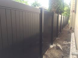 Completed Black Vinyl 6 Ft Tall Privacy Discount Fence Wa Facebook