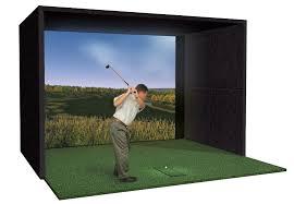 home golf simulator buildout