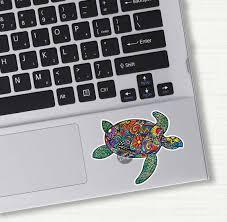 Small Sea Turtle Laptop Decal Colorful Design Bumper Sticker Etsy