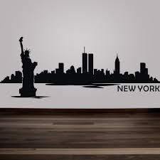 New York City Wall Decal Inspiration Nyc Skyline Removable Vinyl Art Home Decor City Skyline Silhouette Vinyl Art Kids Room Wall Stickers