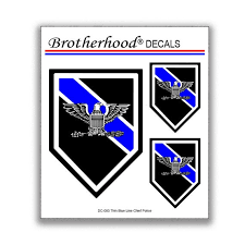 Thin Blue Line Police Chief Sheriff Rank For Law Enforcement Etsy