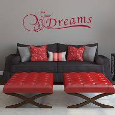 Live Your Dreams Wall Decal Style And Apply