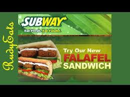 falafel vegetarian subway sandwich