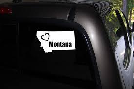 Amazon Com Classy Vinyl Creations Love Montana Heart Montana I Love Montana Car Truck Automotive Window Black Or White Decal Bumper Sticker 6 X 3 5 Home Kitchen