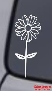 Daisy Flower Vinyl Decal Sticker Car Window Wall Bumper Cute Love Pretty Funny Ebay