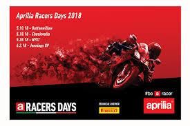aprilia racers days on track demo
