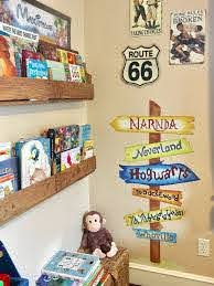 Signpost Wall Decal Childrens Books Signpost By Bmontedesigns Toy Room Decor Toy Rooms Reading Corner Kids