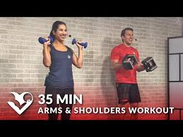 35 minute arms and shoulder workout at