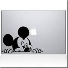 Disney Discovery Winking Mickey Mouse Vinyl Computer Sticker Computer Sticker Vinyl Decals Macbook Vinyl Decals