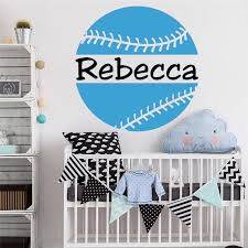 Softball Wall Sticker With Personalized Name Sports Vinyl Decal Girls Teen Girl Boy Room Decor Wall Art Softball Decal Hy311 Wall Stickers Aliexpress