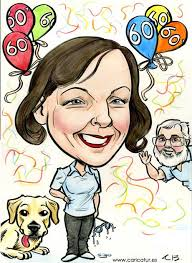 caricature for a 60th birthday present