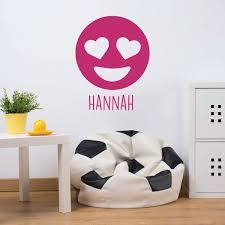 Emoji Wall Decal Smiling Vinyl Decor Wall Decal Customvinyldecor Com