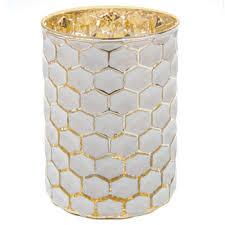 honeycomb mercury glass candle holder