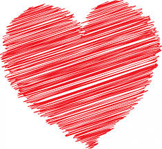 red scribble heart free stock photo
