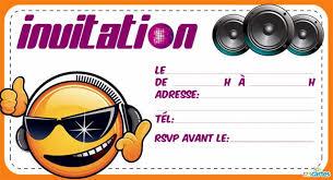 carte d invitation anniversaire à