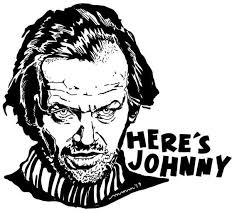 The Shining Here S Johnny Sticker Decal Glassy Vinyl Laptop Locker Notebook Movie Quote Fun Creepy Jack Nicholson In 2020 Here S Johnny The Shining Iconic Movie Quotes