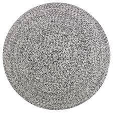 steel merino round cotton rug
