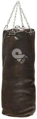 punching bag vintage brown leather
