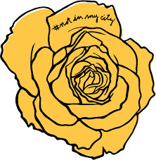 Yellow Rose Decal 5 X 5 Not In My City