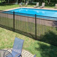 Freedom Standard Sheffield 4 5 Ft H X 6 Ft W Black Aluminum Flat Top Decorative In The Metal Fence Panels Department At Lowes Com