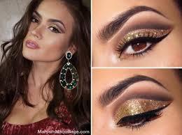 black and gold dress makeup saubhaya