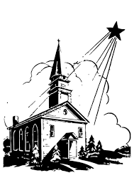 Kleurplaat Kerk Met Kerstster Gratis Kleurplaten Om Te Printen