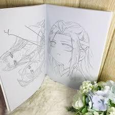 Tranh tô màu Ma đạo tổ sư Trần Tình Lệnh in hình anime chibi quà tặng xinh  xắn dễ thương