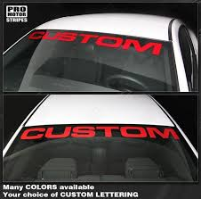Ford Mustang 2005 2019 Windshield Banner Custom Lettering Decal 152588 Pro Motor Stripes