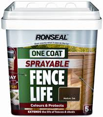 Ronseal One Coat Sprayable Fence Life 5l Bingley Fencing And Timber Timber Fences Furniture Bradford West Yorkshire