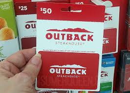 outback steakhouse gift cards 50