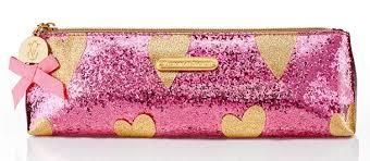 victoria secret sparkle makeup bag