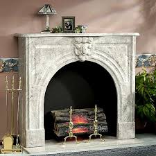 marble fireplace surround in modern