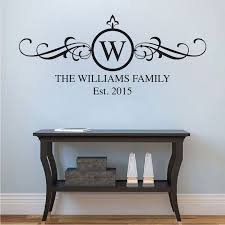Family Surname Wall Decal Applique Trendy Wall Designs Monogram Wall Decals Wall Decals Monogram Wall