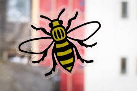 Manchester Bee Window Sticker Clear Vinyl Decal Yellow Etsy