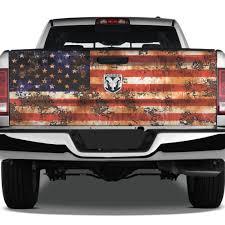 American Flag America Usa Rust Distressed Grunge Tattoo Graphic Wrap Tailgate Vinyl Decal Truck Pickup Suv