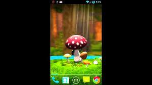 3d mushroom garden live wallpaper