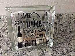 Glass Block Vinyl Decal Wine Theme Diy Crafts 4 95 Picclick
