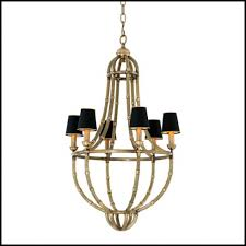 chandelier with antique brass finish