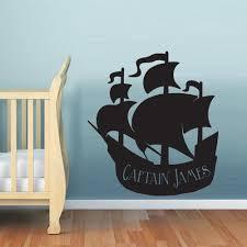 Wall Decal Vinyl Decal Sticker Nursery Kids Baby Ship Ocean Sea Pirate Stickersforlife
