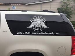 Crossfit Columbia City Window Lettering Blue River Digital