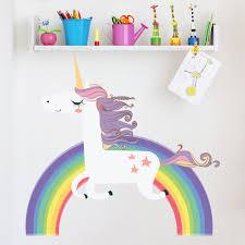 Azutura Unicorn Wall Sticker Rainbow Wall Decal Art Girls Bedroom Nursery Home Decor Available In 8 Sizes X Large Unicorn Rainbow Shop