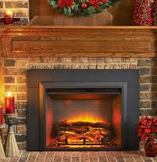 wood fireplace to an electric fireplace