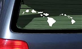 Hi Hawaiian Islands Vinyl Sticker Decal Car Truck Window Laptop Decal Hawaii Window Cleaning Drones Com