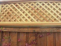 Custom Double Lattice Fence Topper For Customer Approx 100 Fence Toppers Lattice Fence Privacy Fence Designs