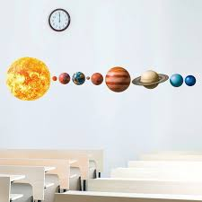 Solar System Planets Wall Stickers For Kids Room Living Room Home Decoration Wall Decal Home Decor Baby Nursery Wall Decoration Wall Stickers Aliexpress
