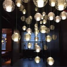 g4 led crystal glass ball pendant lamp